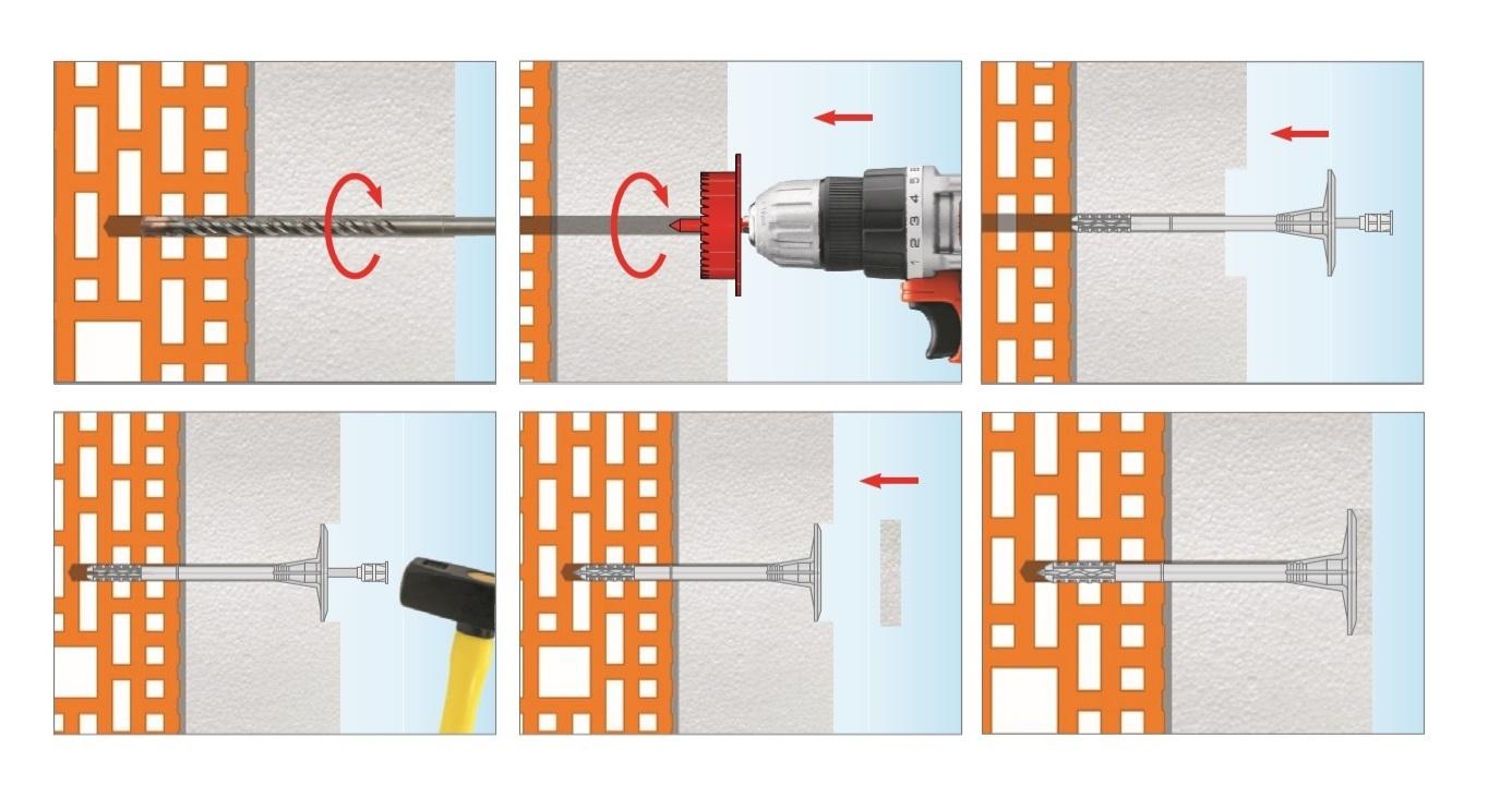 Дюбель LTX Wkret-met для крепления фасадной теплоизоляции - 1