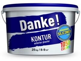 Штукатурка силікон латексна Danke! Kontur  камінцева 1,5 25кг - 1